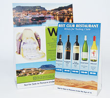 Table Talkers Gecko Signs Namibia - Restaurant table talkers